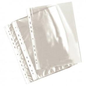 Sachet de 100 pochettes perforées en polypropylène 5-100ème aspect lisse format A4
