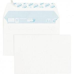 Paquet de 100 enveloppes blanches C6 114x160 75g/m² bande de protection