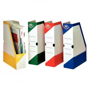 Paquet de 4 boites à pan coupé en carton couleurs assorties