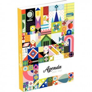 "Agenda septembre à août  11,5 x 17 cm motif ""FEERIE"""