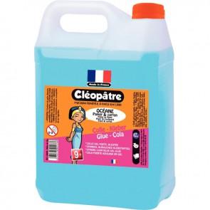 Bidon Recycléo de 5 litres de colle forte cristal bleue A base d'eau La couleur bleutée, repérable sur le papier  permet d'utiliser juste la quantité de colle necessaire   Collage  rapide et puissant Bidon recyclable, 90%  plastique recyclé