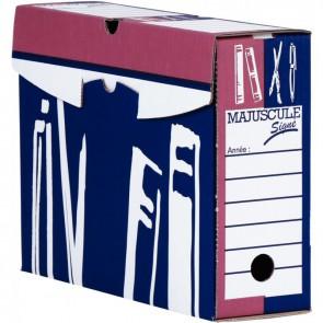 Paquet de 5 boîtes à archives format 25x33,5 cm dos 10 cm