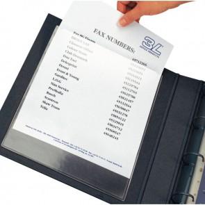 Blister de 10 pochettes adhésives transparentes format 305x220 mm (210x297 mm à classer) en polypropylène