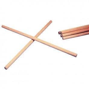 Boîte de 10 tourillons en bois naturel longueur 33 cm, diamètre 12 mm