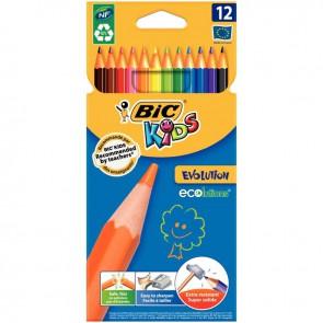 Lot de 12 pochettes de 12 crayons de couleur Évolution dont 3 gratuites
