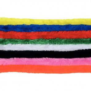 Sachet de 18 chenilles diamètre 15 mm et longueur 30 cm couleurs assorties