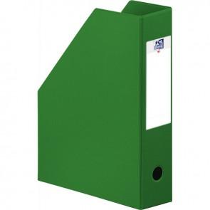 Boite de classement en PVC à pan coupé dos 7 cm vert
