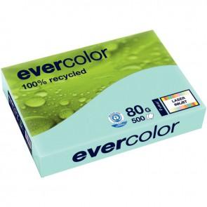 Ramette de 500 feuilles de papier recyclé 80g de format A4 bleu clair EVERCOLOR