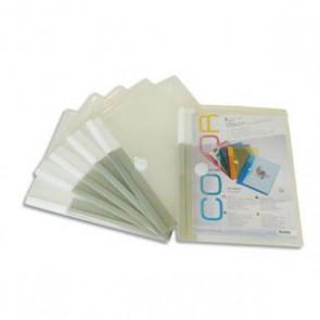 Sachet de 6 porte-documents à velcro A5 TARIFOLD en PP 20/100e épais incolore Code Produit 476908