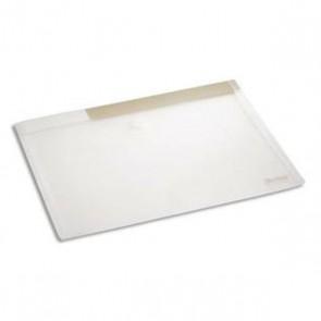 Porte-documents à fermeture velcro en format A4 en PP 20/100e incolore. Code Produit TARIFOLD 476915