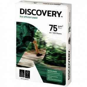 Ramette de 500 feuilles de papier blanc 75g de format A4 DISCOVERY