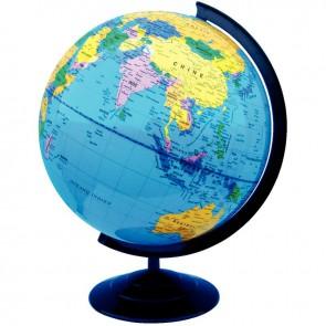Globe géographique non lumineux, diamètre 30 cm