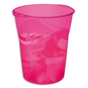 Corbeille à papier CEP rose magenta