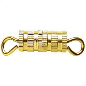 Sachet de 8 fermoirs collier à vis doré