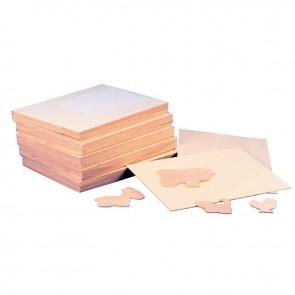 Lot de 10 planches en bois format 24x33 cm épaisseur 3 mm
