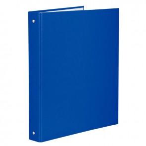 Classeur plastifié pour format A4, 4 anneaux ronds diamètre 30 mm, dos 40 mm, bleu