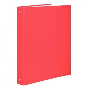 Classeur plastifié pour format A4, 4 anneaux ronds diamètre 30 mm, dos 40 mm, rouge
