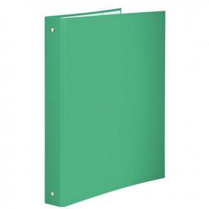 Classeur plastifié pour format A4, 4 anneaux ronds diamètre 30 mm, dos 40 mm, vert