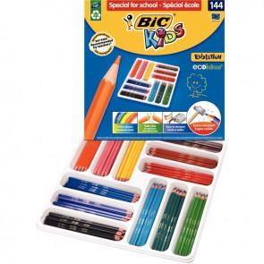 Boîte Classpack de 144 crayons de couleur Évolution couleurs assorties