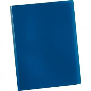 Protège documents couverture souple en polypropylène 20 vues bleu