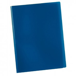 Protège documents couverture souple en polypropylène 40 vues bleu