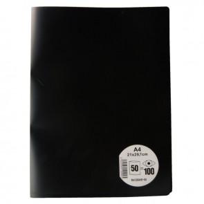Protège documents couverture souple en polypropylène 100 vues noir