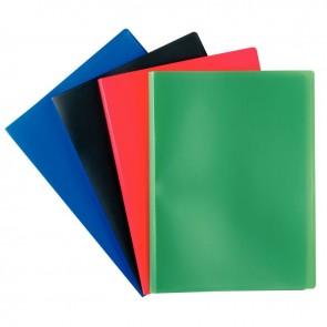 Protège documents couverture souple en polypropylène 100 vues bleu