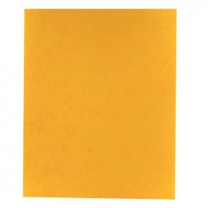 Protège-cahier 2 grands rabats format 18 x 22 cm carte lustrée coloris jaune