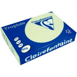 Paquet de 250 feuilles de papier 160g de format A3 vert golf TROPHEE CLAIREFONTAINE