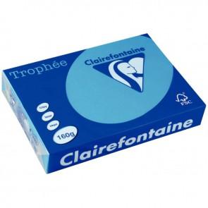 Paquet de 250 feuilles de papier 160g de format A3 bleu turquoise TROPHEE CLAIREFONTAINE