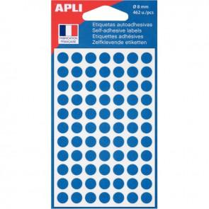 Etui de 462 pastilles adhésives diamètre 8 mm bleu