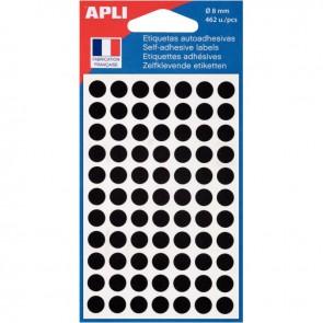 Etui de 462 pastilles adhésives diamètre 8 mm noir