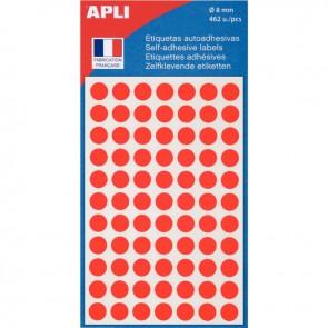 Etui de 462 pastilles adhésives diamètre 8 mm rouge