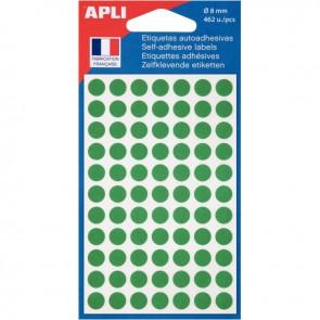 Etui de 462 pastilles adhésives diamètre 8 mm vert