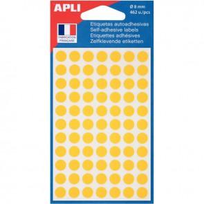 Etui de 462 pastilles adhésives diamètre 8 mm jaune