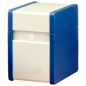Boîte à fiche Plastique / métal 150x105 bleue et blanche
