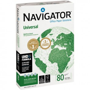 Ramette de 500 feuilles de papier blanc 80g de format A4 NAVIGATOR