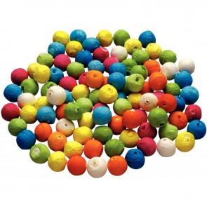 Sachet de 100 boules cellulose couleur, diamètre 18 mm