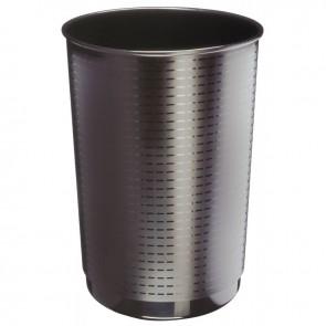 Corbeille à papier maxi-capacité en polypropylène recyclé noir 40 litres