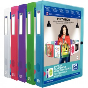 Boite de classement personnalisable dos de 40 mm format 24x32 cm coloris assortis