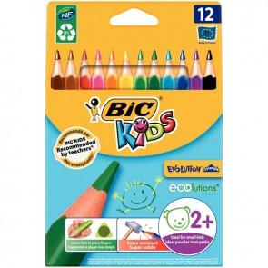 Étui de 12 crayons de couleurs Évolution triangulaire pointe moyenne
