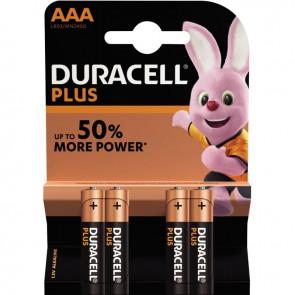 Blister de 4 piles 1.5 volts alcaline LR03 AAA PLUS à la marque DURACELL