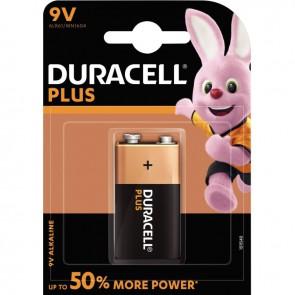 Blister de 1 pile 9 volts alcaline 6LR61 DURACELL à la marque PLUS