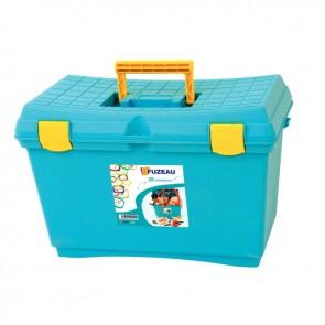 Malle bleue en PVC garnie de 28 instruments de musique