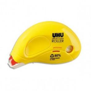 Roller de colle permanente; Uhu sur les listes scolaires ou : UHU DRY & CLEAN ROLLER longueur de collage : 8,5 m x largeur 6,5 mm