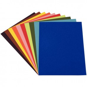 Paquet de 100 feuilles de papier couleur 120g format 21x29,7cm 10 assortis