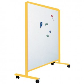 Tableau enfant sur pied 120x120cm jaune