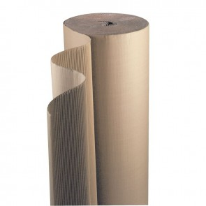 Rouleau de carton ondulé simple face laize 1,60m de longueur 50m environ résistance 360 g/m²