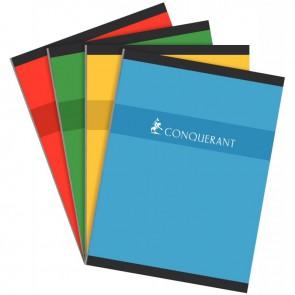 Cahier brochure normalisé, 192 pages, format 24 x 32 cm, réglure 5 x 5, papier 70g, coloris assortis