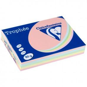 Ramette de 500 feuilles de papier 80g de format A3 assortis pastel TROPHEE CLAIREFONTAINE